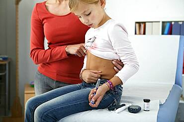 Treating diabetes in a child