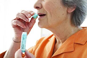 Homeopathy, elderly person