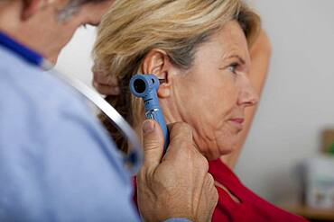Ear nose &throat, elderly person