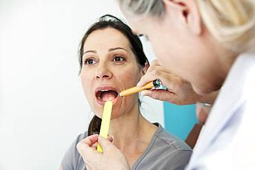 Ear nose & throat, woman