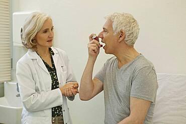 Asthma treatment, elderly person