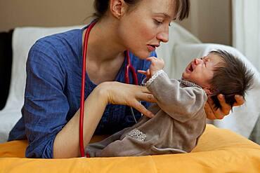 3-week-old baby girl.