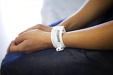 Medical ID bracelet.