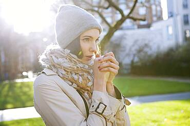 Woman being cold.