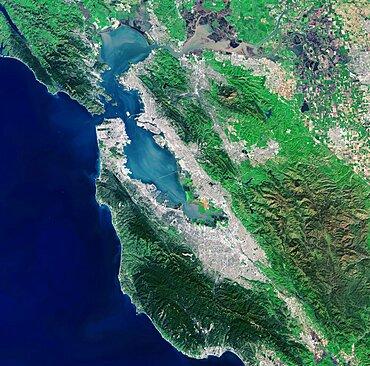 San Francisco Bay, Landsat 8