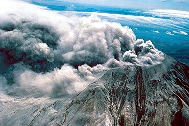 Day after eruption of Mount St. Helens