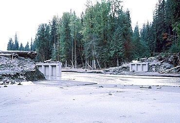 Aftermath of Mount St. Helens eruption
