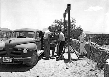 Trinity Test Site, Loading Gadget Components, 1945