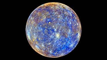 Mercury, False-Color