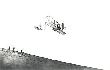 Orville Wright Flying Wright Glider, 1911