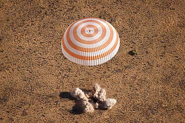 Soyuz Spacecraft Landing in Kazakhstan
