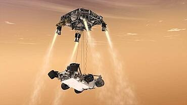 Mars Science Laboratory Descending to Mars