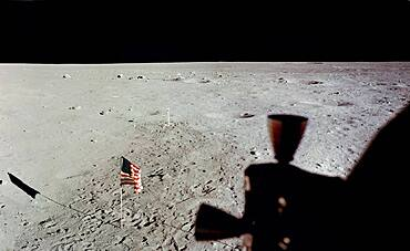 Apollo 11, Tranquility Base and American Flag, 1969