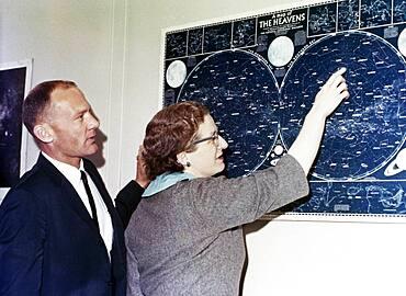 Nancy Roman and Edwin Aldrin