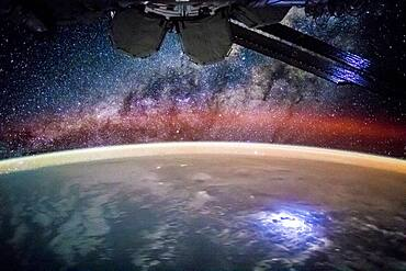 Lights Above and Below the ISS