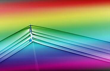 Supersonic Aircraft Shockwaves, Schlieren Image