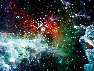 Rainbow Pacman Nebula