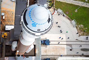 Rollout of Boeing Starliner atop Atlas V Rocket