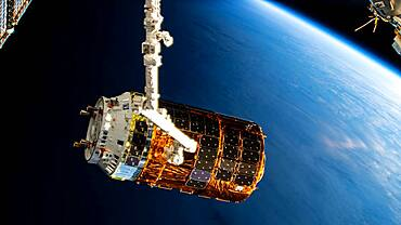 Kounotori 8 Cargo Craft at the ISS