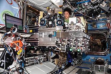 Astronaut Jessica Meir on the ISS