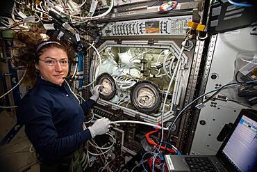 Astronaut Christina Koch on the ISS
