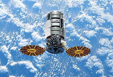 Cygnus Spacecraft Docks at the ISS