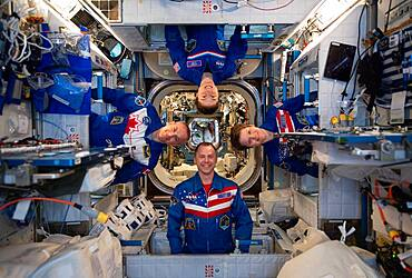 Expedition 59 Astronauts on the ISS