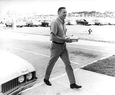 Apollo 11, Neil Armstrong Arrives at KSC, 1969
