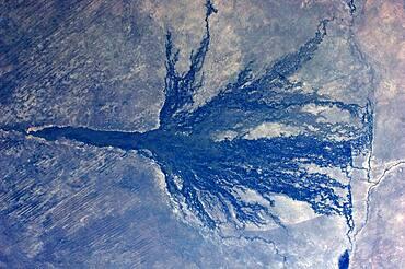 Okavango, Botswana, ISS image