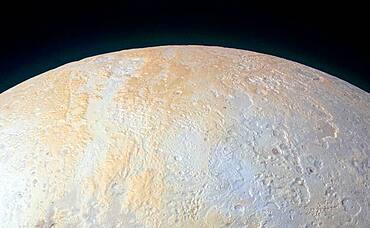 Canyons Around Pluto's North Pole