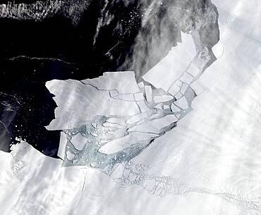Iceberg Calving, Pine Island Glacier