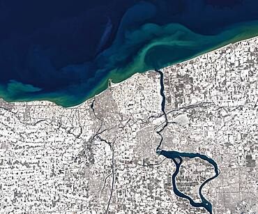 Niagara River in Winter, Satellite Image