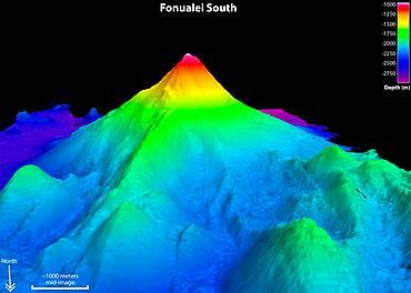 Fonualei South Volcano, Sonar Image