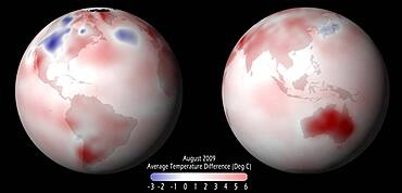 Global Temperature Anomaly, 2009