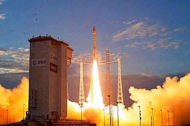 ADM-Aeolus satellite liftoff