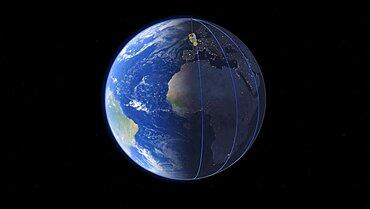 ADM-Aeolus satellite orbit, illustration