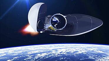 ADM-Aeolus satellite launching, illustration