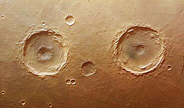 Mars, Twin Craters, HRSC Image