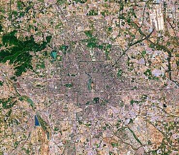 Beijing, China, 2016, satellite image