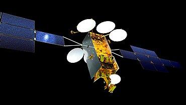 Eurostar Neo communications satellite, computer artwork