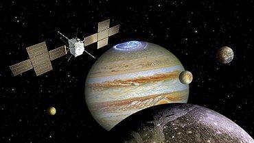 Jupiter Icy Moons Explorer JUICE mission, artwork