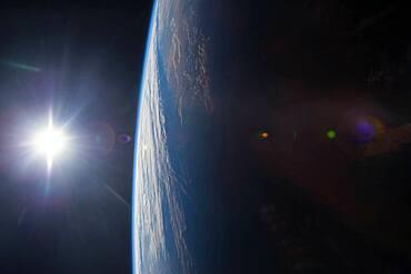 Sunset, ISS Image