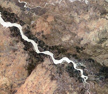 Darfur, Sudan, satellite image