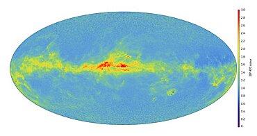 Gaia satellite image of stars near the Galactic Center