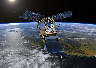 Sentinel-5P satellite in orbit, artwork