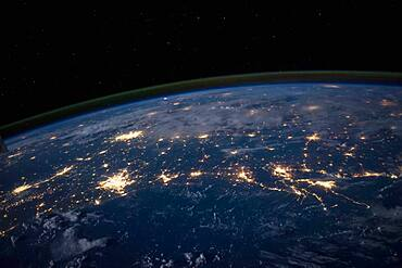 Gulf Coast at Night from Space