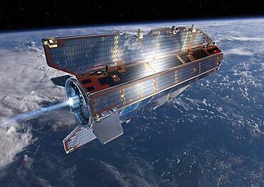 GOCE Satellite Solar Panels