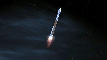 Solar Orbiter Taking Off, Artist's Impression