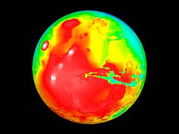 Martian Topography, Mars Orbiter Laser Altimeter