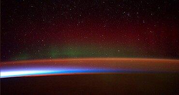 Aurora australis, ISS Image, 2014